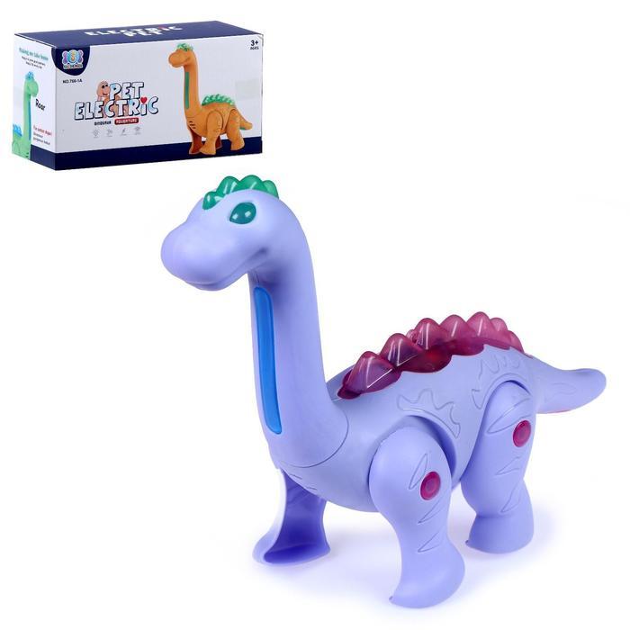Динозавр «Диплодок травоядный», световые и звуковые эффекты, работает от батареек, МИКС