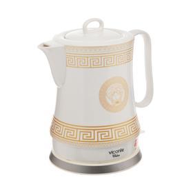 Чайник электрический Viconte VC-3289, керамика, 1.8 л, 2200 Вт, белый