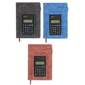 Органайзер формат А5 140 листов, клетка, с хлястиком, с калькулятором, обложка пвх МИКС Ош