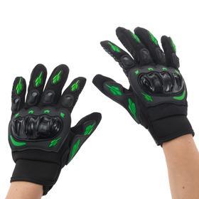 Перчатки для езды на мототехнике, с защитными вставками, пара, размер XL, черно-зеленый Ош