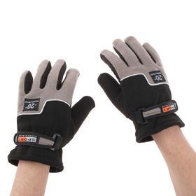 Перчатки для езды на мототехнике, зимние до -20, одноразмерные, черно-серый Ош