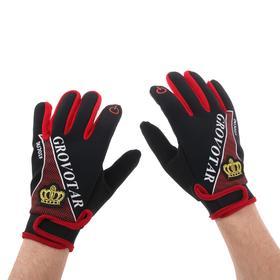 Перчатки для езды на мототехнике, межсезонные, одноразмерные, черно-красный Ош