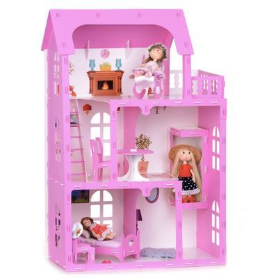 Домик для кукол «Дом Карина» с мебелью, цвет бело-розовый - Фото 1