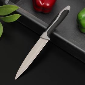 Нож металлический Доляна «Фонтека», лезвие 12 см, цвет чёрный