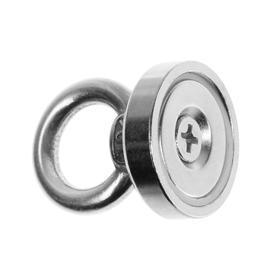 Магнит неодимовый Cartage с петлёй для авто, d:25 мм, сцепление 19 кг Ош