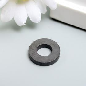 Магнит технический чёрный круглый с отверстием 16х7х3 мм Ош