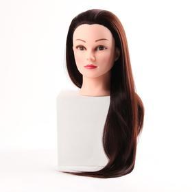 Голова учебная, искусственный волос, 55-60 см, без штатива, цвет каштан Ош