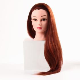 Голова учебная, искусственный волос, 55-60 см, без штатива, цвет рыжий Ош