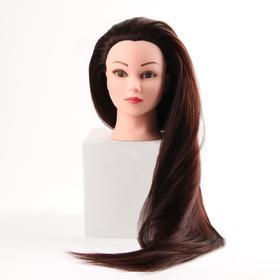 Голова учебная, искусственный волос, 75-80 см, без штатива, цвет каштан Ош