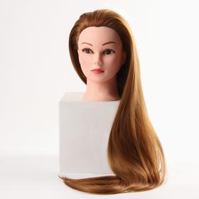 Голова учебная, искусственный волос, 75-80 см, без штатива, цвет пшеничный Ош