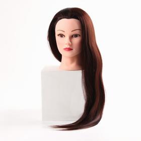 Голова учебная, искусственный волос, 55-60 см, объём 2D, без штатива, цвет каштан Ош