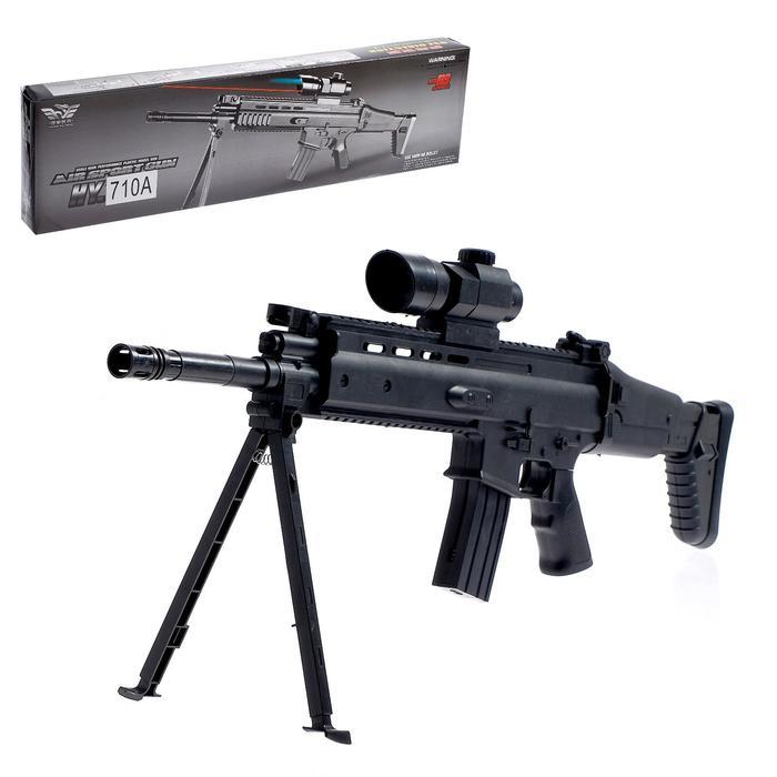 Автомат FN SCAR, 66 см, с лазером