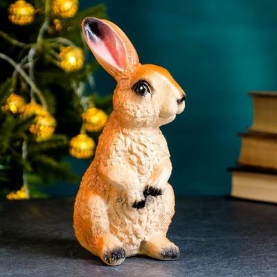 "Садовая фигура ""Заяц лесной"" рыжий, 20х10см"
