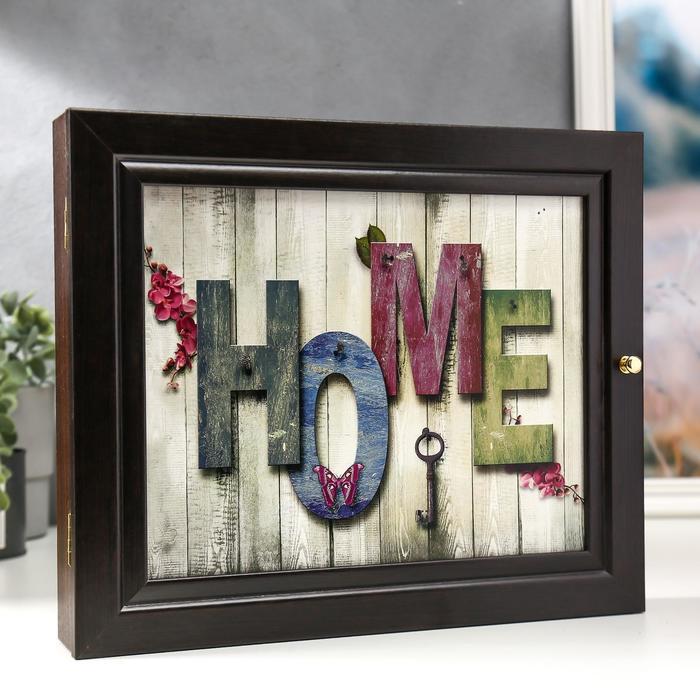 """Ключница """"Home"""" венге 26х31 см"""
