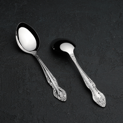 Ложка десертная «Тройка», h=18 см, толщина 2 мм - Фото 1