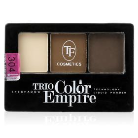 Тени для век TF Trio Color Empire, ТЕ-22-304C, тон 304 шоколад