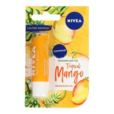 Бальзам для губ Nivea Tropical mango, тропический манго, 4,8 г