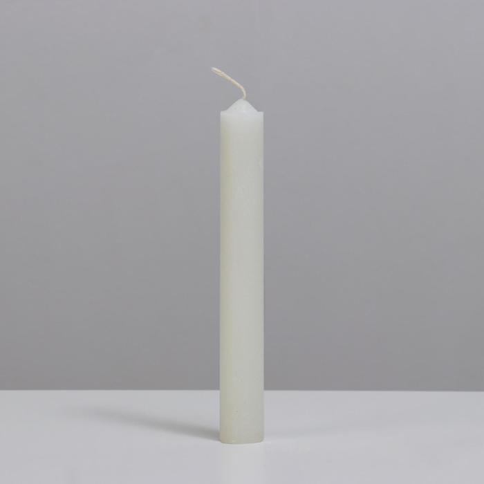 Свеча хозяйственная, 2,2х17,5 см, 50 гр, белая