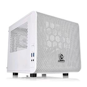 Корпус Thermaltake Core V1 Snow, без БП, miniITX, Desktop, белый