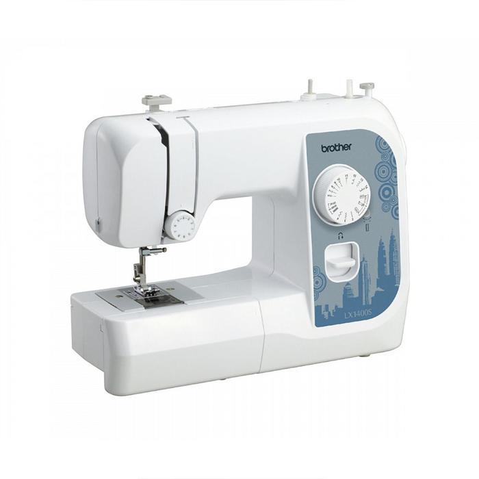 Швейная машина Brother LX 1400s, 85 Вт, 14 операций, полуавтомат, бело-синяя
