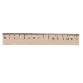 Линейка деревянная 15 см, Эдельвейс (штрих-код) Ош