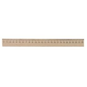 Линейка деревянная 25 см, Calligrata (штрих-код), Россия Ош