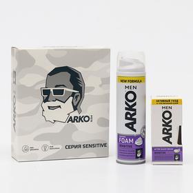 Набор ARKO Men Sensitive: пена для бритья, 200 мл + крем после бритья, 50 мл