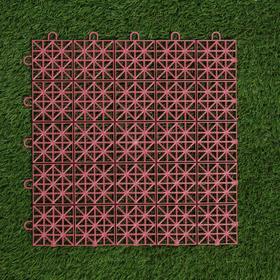 Модульное покрытие, 33 × 33 см, нагрузка до 10 т., терракот Ош