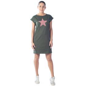 Платье-футболка Full allert, размер 44, цвет хаки Ош