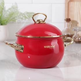 Кастрюля Premium, 2,2 л, d=16 см, цвет красный