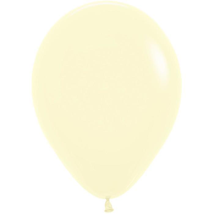 Шар латексный 5 макарунс, водяные бомбочки, светло-жёлтый, пастель, набор 25 шт.