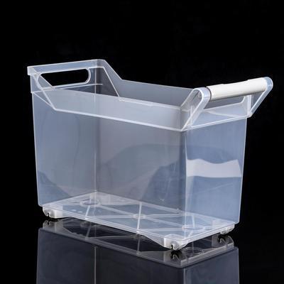 Органайзер для хранения с ручкой IDEA, 10,5 л, 18×38×26 см, на колёсиках, цвет прозрачный