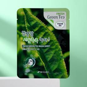 Тканевая маска для лица 3W CLINIC с зелёным чаем, 23 мл