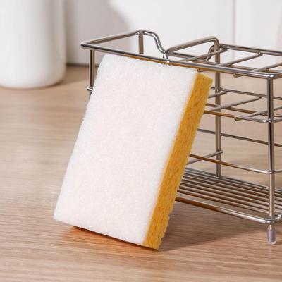 Губка целлюлозная с мягким абразивом GRIFON Antibac Soft, 10×7×2 см, 1 шт