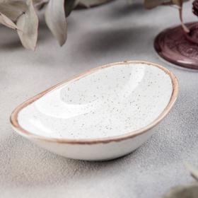 Блюдо для подачи Porland, 7×11 см, цвет бежевый
