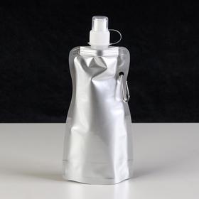 Фляжка для воды 'Классика' 450 мл, с карабином, мягкая,10х26.6 см Ош