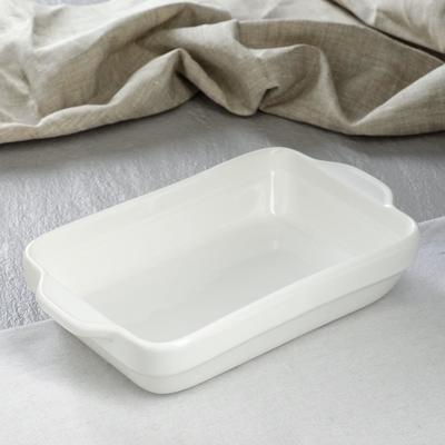 Противень для запекания керамический, белый, 28 см × 17 см × 6 см