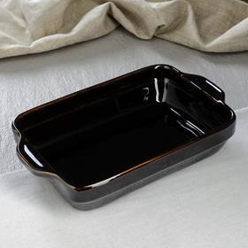 Противень для запекания керамический, черный, 28 см × 17 см × 6 см