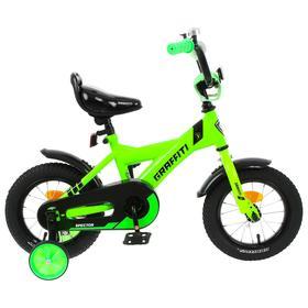 Велосипед 12' Graffiti Spector, цвет неоновый зелёный Ош