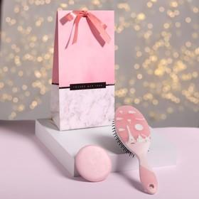 Подарочный набор «Нежнятина», 2 предмета: зеркало, массажная расчёска, цвет МИКС Ош