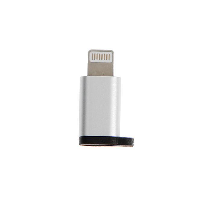 Адаптер Krutoff, micro USB - 8-pin, белый