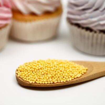 Кондитерская посыпка «Шарики», перламутрово-жёлтая, 2 мм, 50 г
