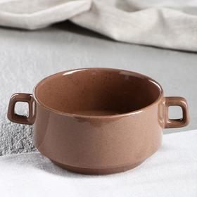 Бульонница 0.4 л, коричневая