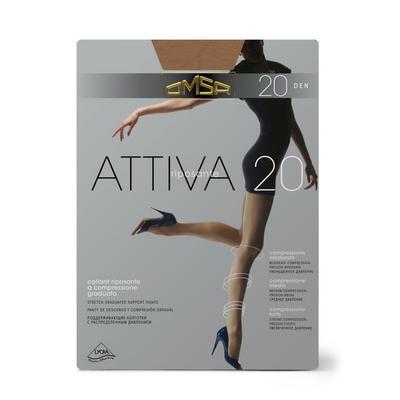Колготки женские Omsa Attiva, 20 den, размер 2, цвет natural