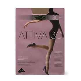 Колготки женские Omsa Attiva, 30 den, размер 2, цвет caramello