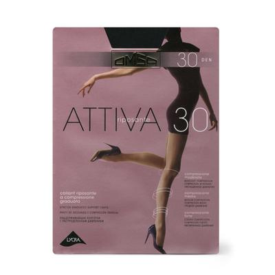 Колготки женские Omsa Attiva, 30 den, размер 2, цвет nero