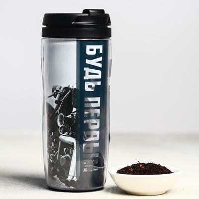 Чай чёрный «Будь первым», термостакан 350 мл, аромат лесные ягоды, 20 г - Фото 1