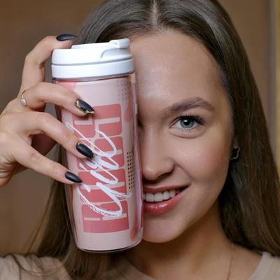 Чай чёрный BOSS GIRL, термостакан 350 мл, аромат лесные ягоды, 20 г - Фото 1
