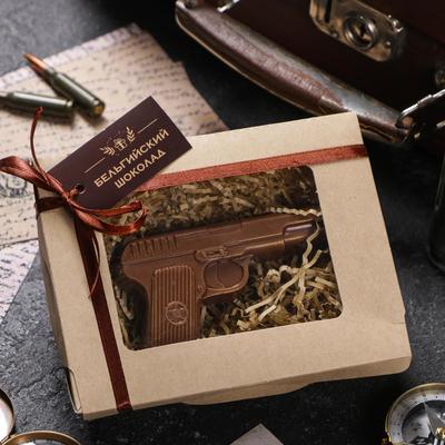 Шоколадная фигурка «Пистолет», 80 г