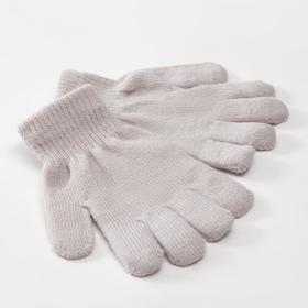 Перчатки детские MINAKU 'Однотонные',цв. серый, р-р 16 (10-12 лет) Ош